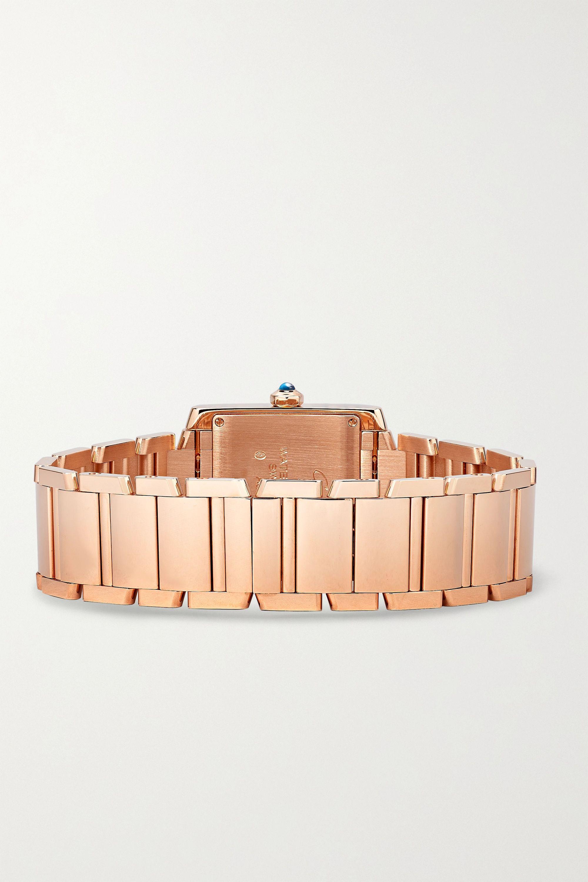 Cartier Tank Française 25mm medium 18-karat rose gold watch