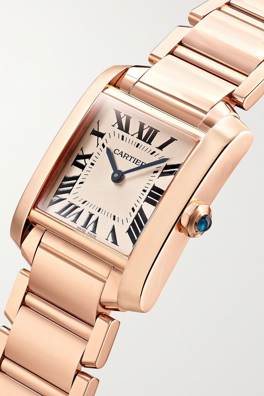 Cartier Tank Française 25mm medium 18-karat rose gold watch