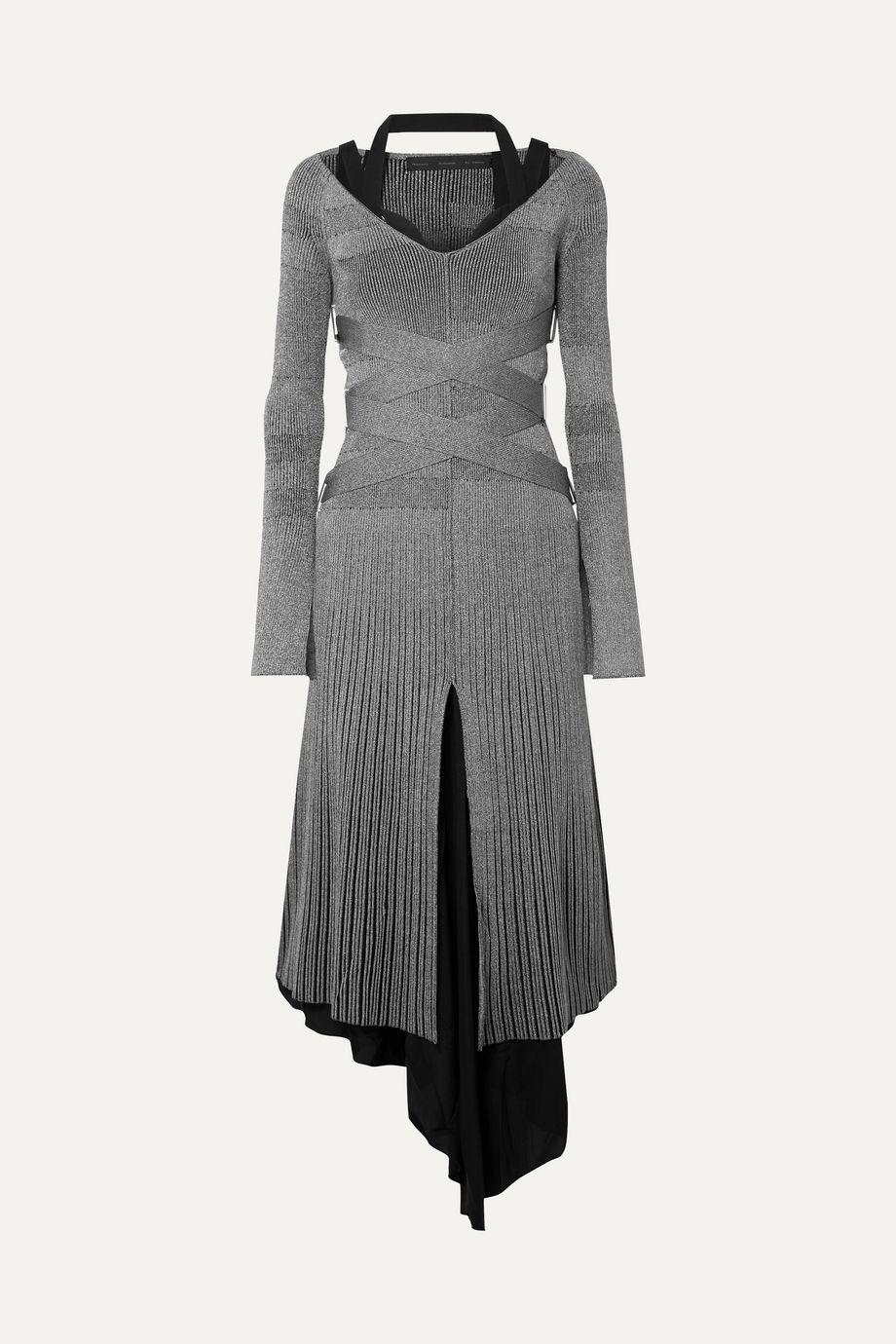 Proenza Schouler Metallic ribbed-knit midi dress