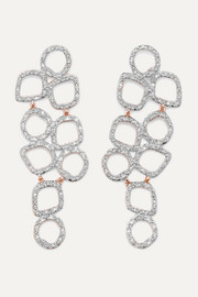 Monica Vinader Riva Cluster rose gold vermeil diamond earrings