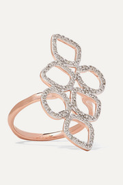 Monica Vinader Riva rose gold vermeil and sterling silver diamond ring