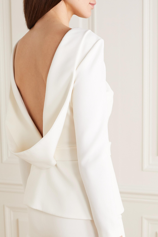 Safiyaa Saura belted open-back crepe top