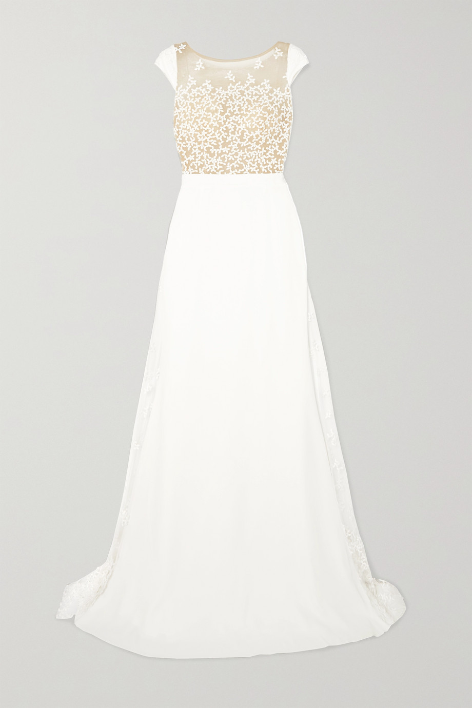 Rime Arodaky Alvin embroidered tulle and crepe gown