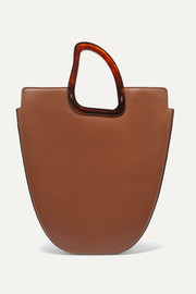 Ourea large leather and resin tote