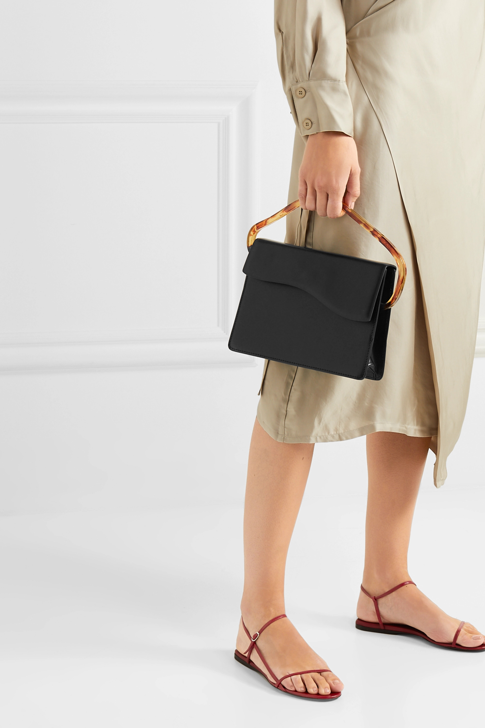 Naturae Sacra Aiges leather and resin tote