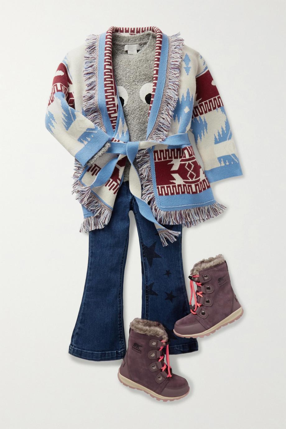 Sorel Kids Whitney Stiefel aus Veloursleder mit Fleecefutter und Faux-Fur-Besatz