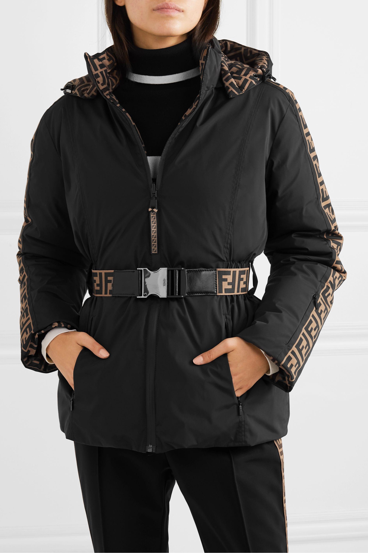 Fendi Reversible belted printed ski jacket