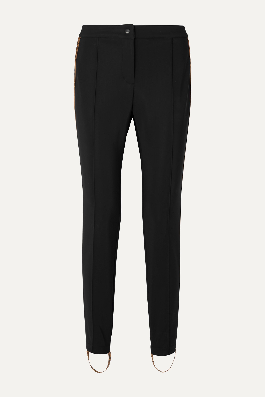 Fendi Jacquard-trimmed stirrup ski pants