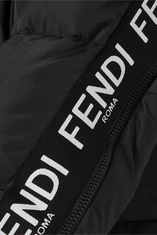 Fendi Jacquard-trimmed quilted down ski jacket