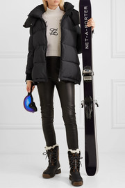 Fendi Jacquard-trimmed quilted down ski jacket