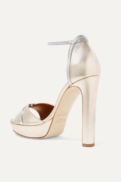 Malone Souliers Platforms Miranda 125 metallic leather platform sandals
