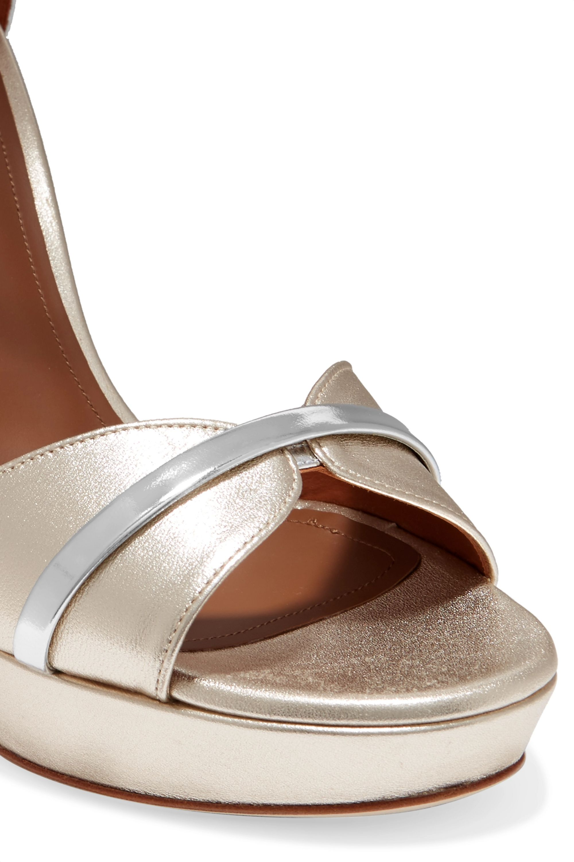 Malone Souliers Miranda 125 metallic leather platform sandals