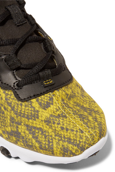 Nike Sneakers React Element 55 snake-print mesh, faux leather and felt sneakers