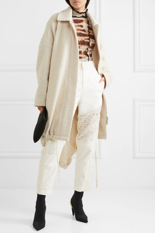 Asai Paneled cotton, gauze and corduroy tapered pants