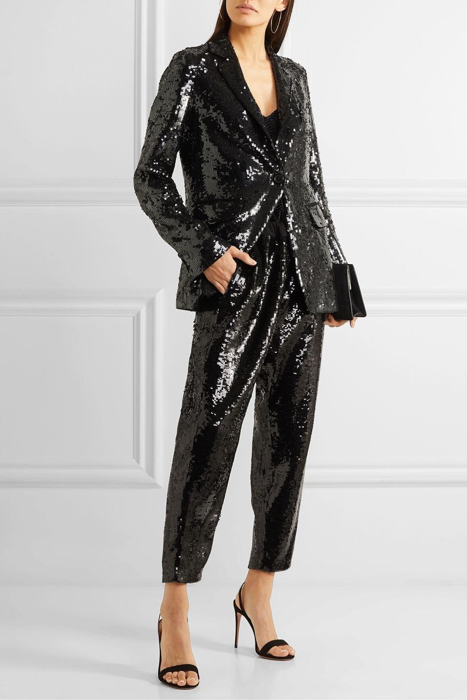 Nili Lotan Sophia sequined crepe blazer