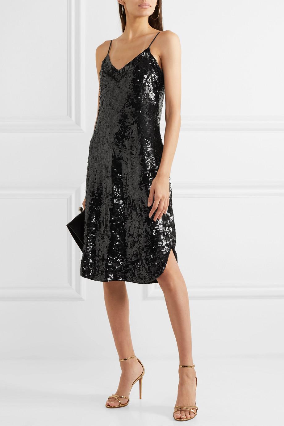Nili Lotan Kleid aus Chiffon mit Pailletten