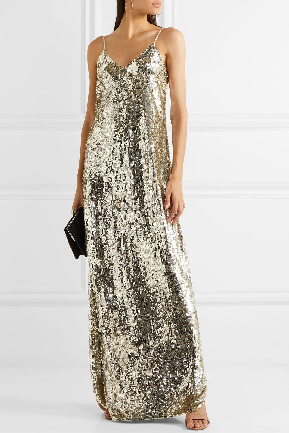 Nili Lotan Sequined chiffon gown
