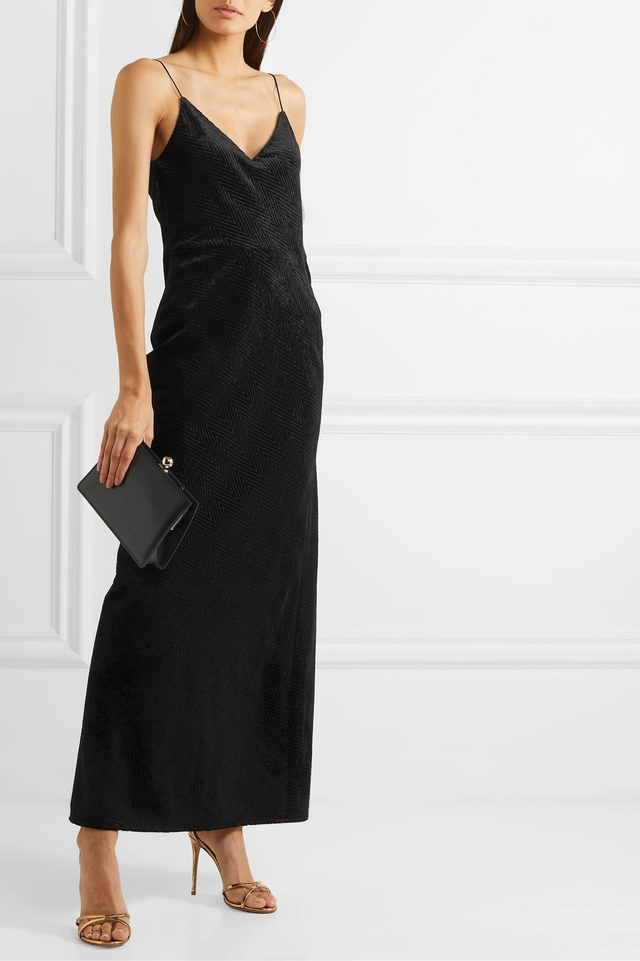 Nili Lotan Josephine devoré-velvet gown
