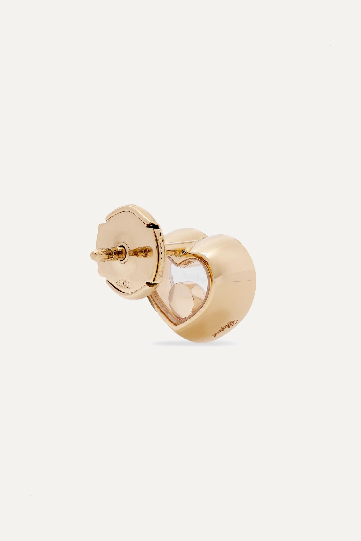 Chopard + NET SUSTAIN Happy Diamonds 18-karat gold diamond earrings