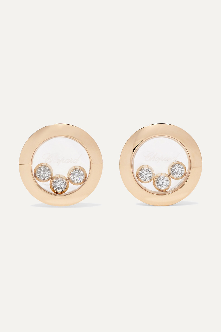 Chopard Boucles d'oreilles en or 18 carats et diamants Happy Diamonds - NET SUSTAIN