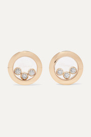 + NET SUSTAIN Happy Diamonds 18-karat gold diamond earrings