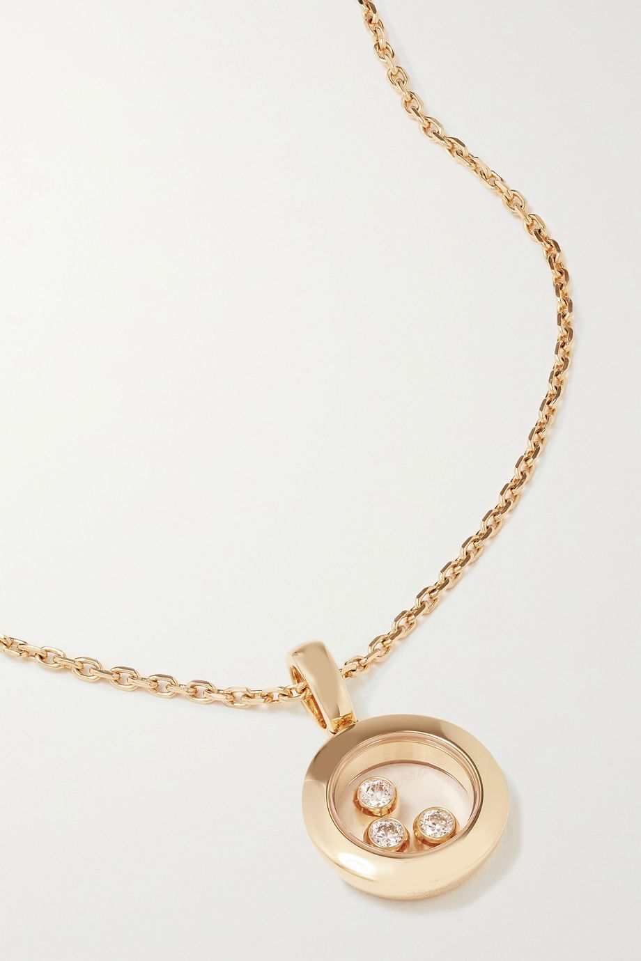 Chopard + NET SUSTAIN Happy Diamonds 18-karat gold diamond necklace