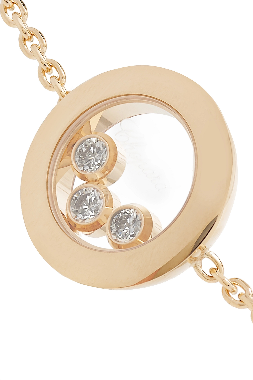 Chopard + NET SUSTAIN Happy Diamonds 18-karat gold diamond bracelet