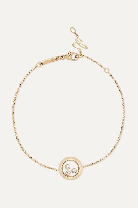Gold + NET SUSTAIN Happy Diamonds 18-karat gold diamond bracelet | Chopard U00Tj5