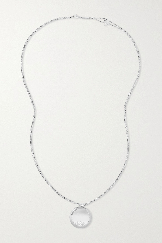 Chopard + NET SUSTAIN Happy Diamonds 18-karat white gold diamond necklace