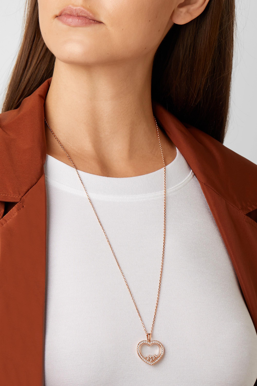 Chopard + NET SUSTAIN Happy Diamonds 18-karat rose gold diamond necklace