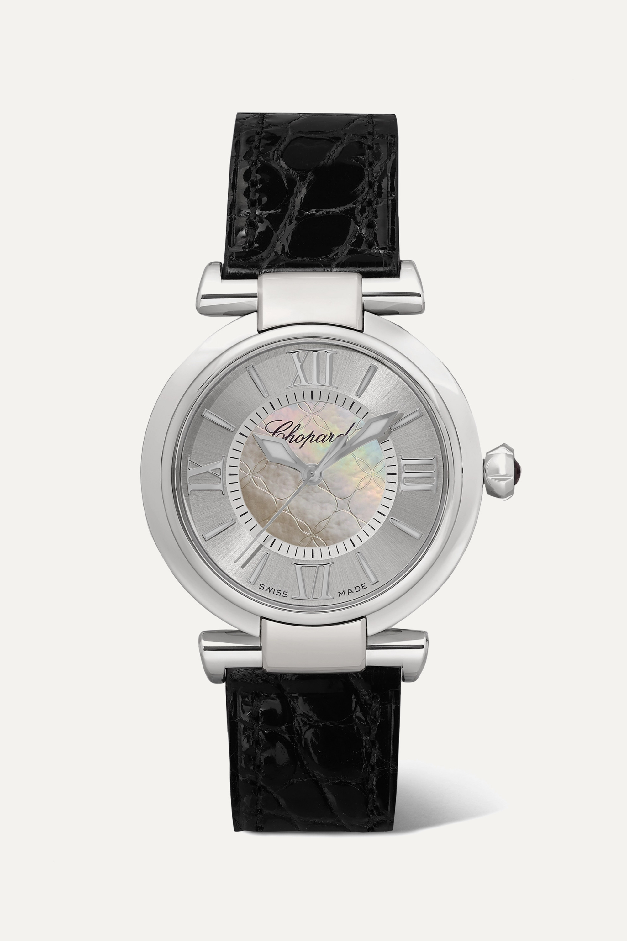 Chopard Imperiale Automatic 29mm stainless steel, alligator and mother-of-pearl watch