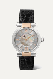 Imperiale Automatic 29mm stainless steel, 18-karat rose gold, alligator and mother-of-pearl watch