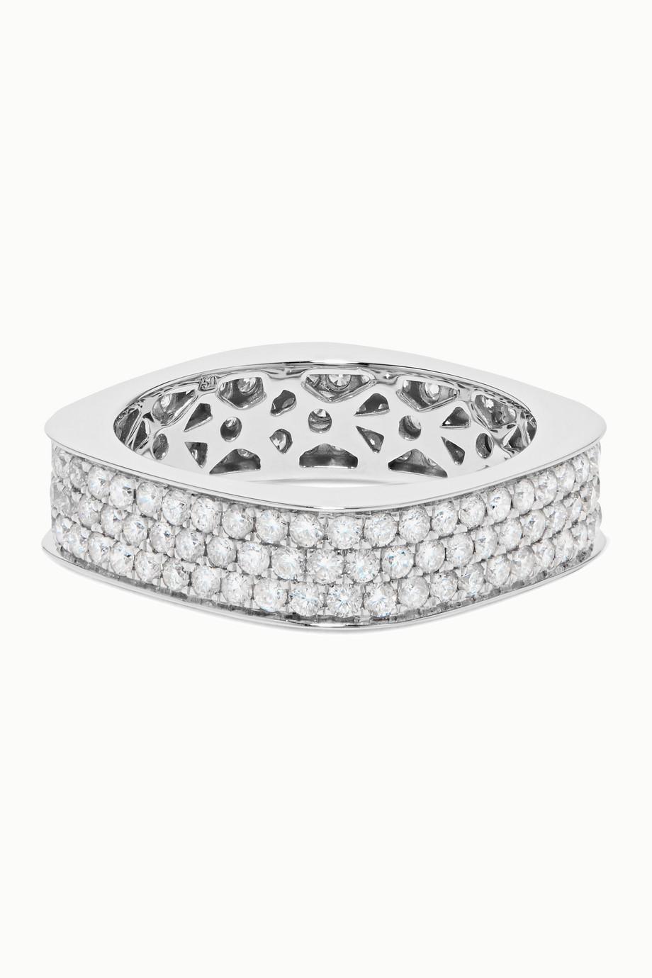 OFIRA Cluster 18-karat white gold diamond ring