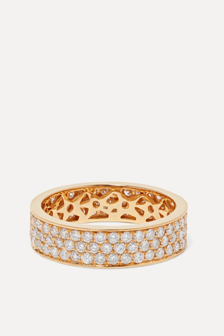 OFIRA Cluster 18-karat gold diamond ring
