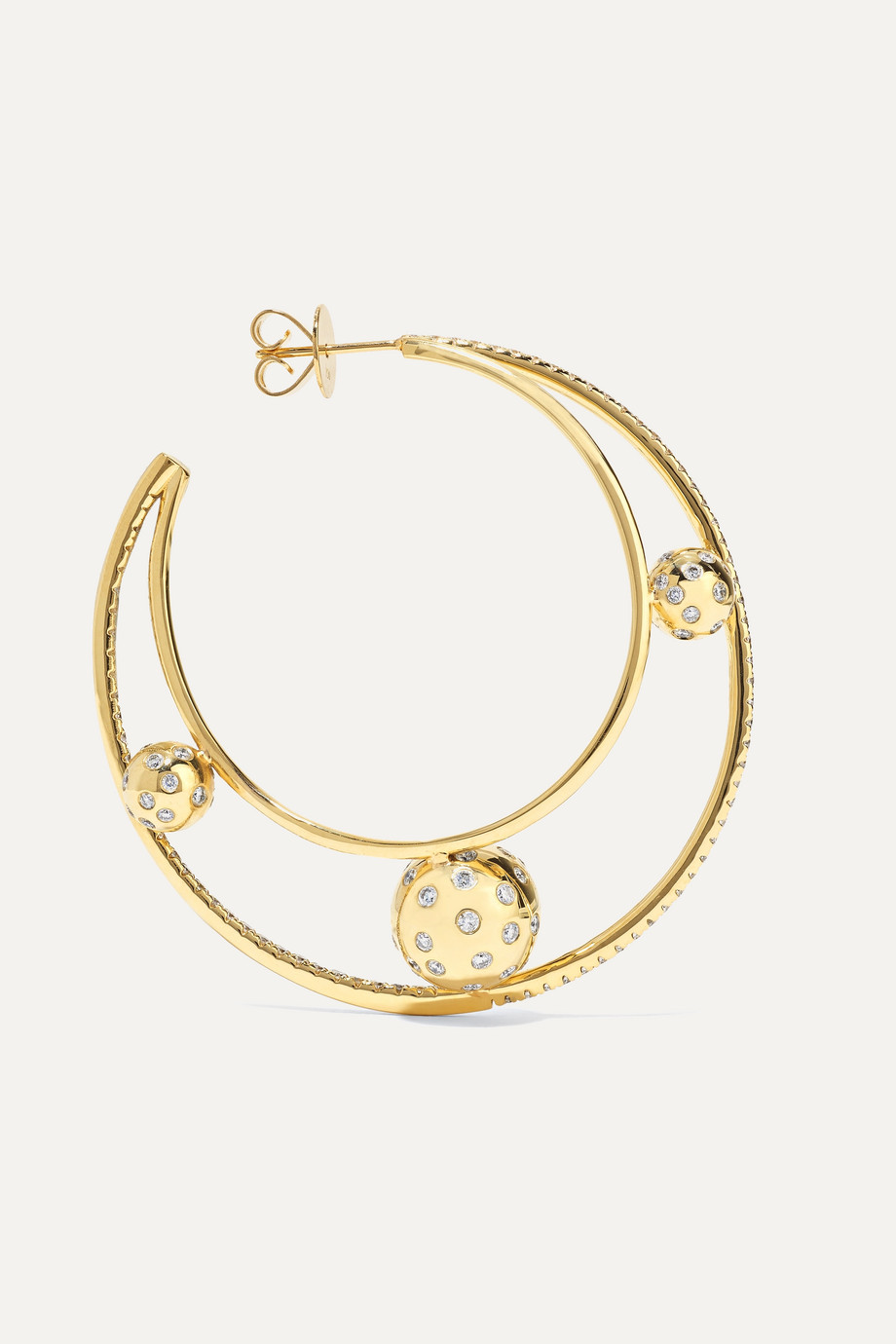 OFIRA Solar 18-karat gold diamond earrings