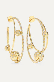 Solar 18-karat gold diamond earrings