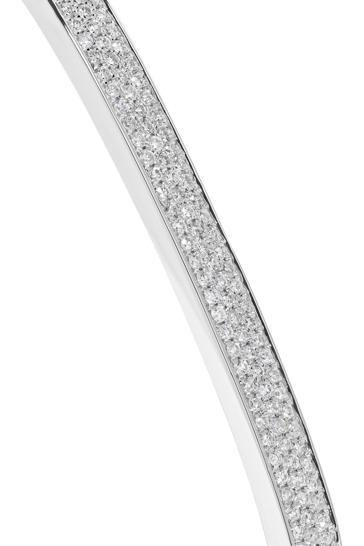OFIRA Geo Armreif aus 18 Karat Weißgold mit Diamanten