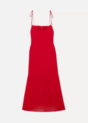 Reformation Emmie tiered georgette midi dress