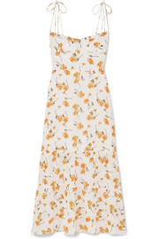 Reformation Emmie floral-print georgette midi dress