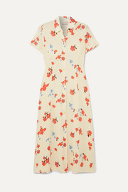 Reformation Sheila floral-print georgette midi dress