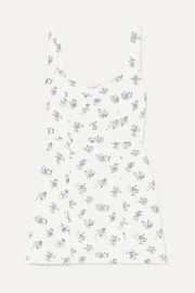 Reformation Fairfax floral-print crepe mini dress