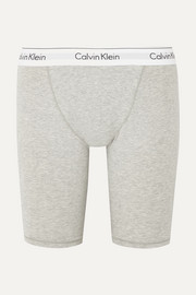 Stretch-cotton and modal-blend jersey shorts