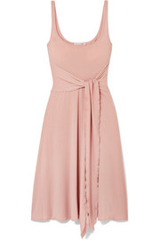 Reformation August tie-front stretch-Lyocell dress