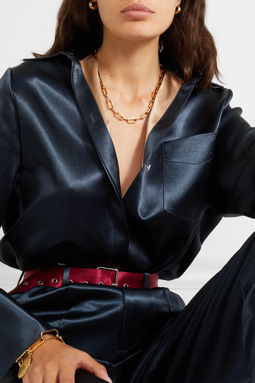 Monica Vinader Alta Capture gold vermeil charm necklace