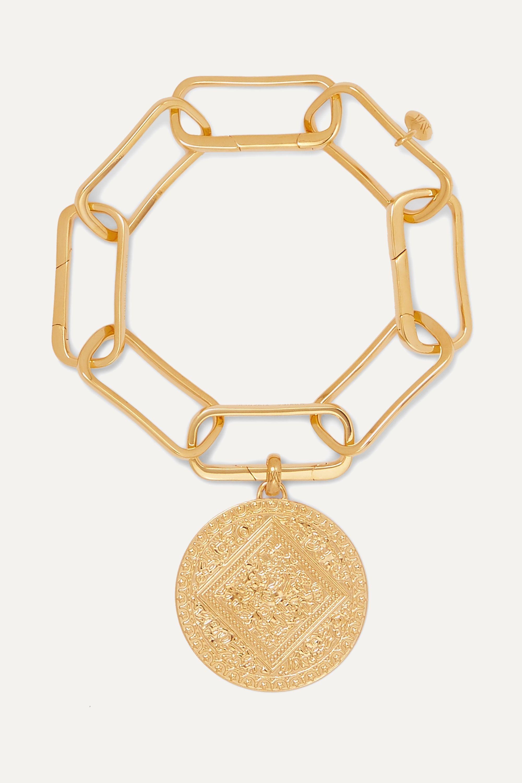 Monica Vinader Alta Capture gold vermeil charm bracelet