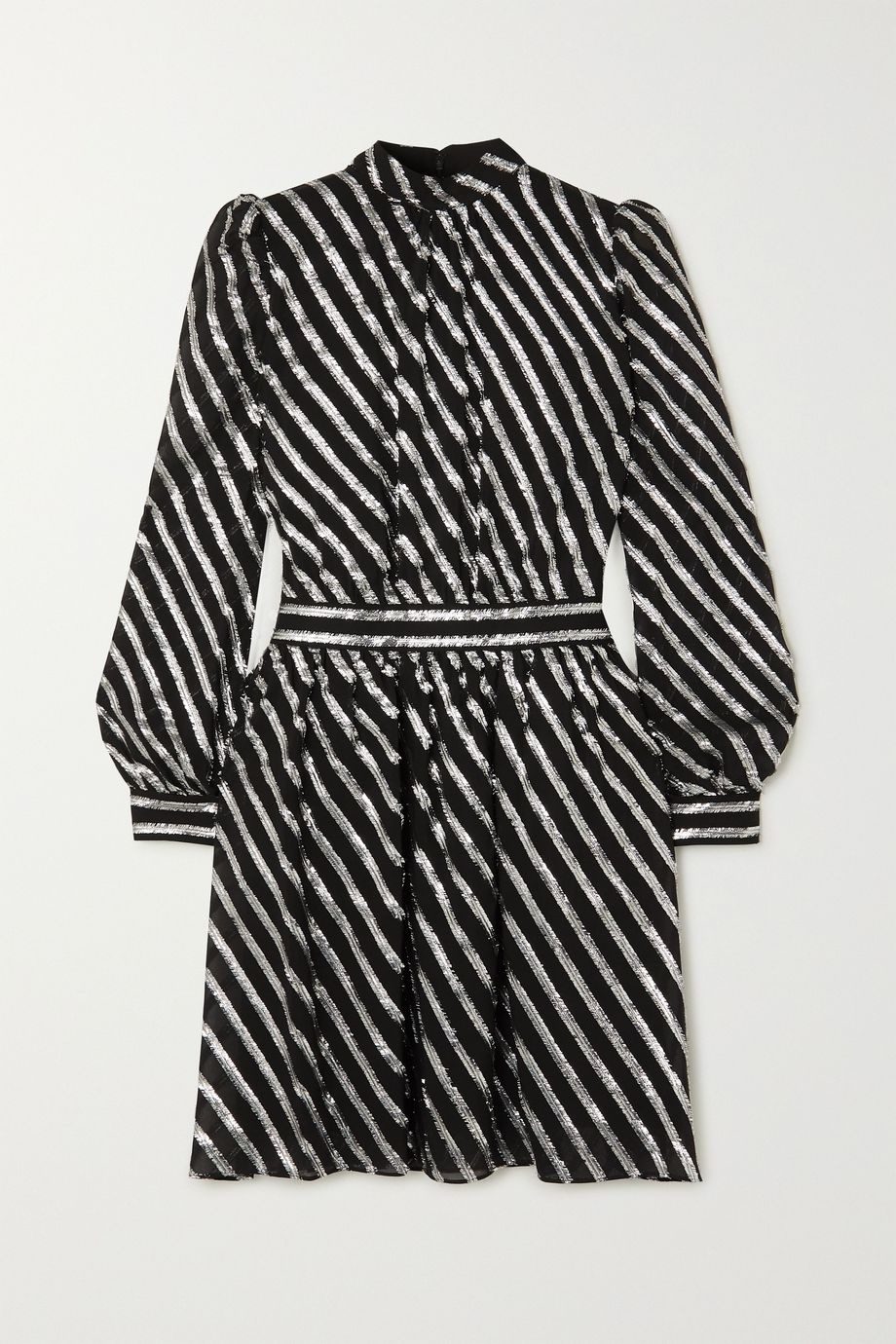 MICHAEL Michael Kors Metallic striped silk-blend dress
