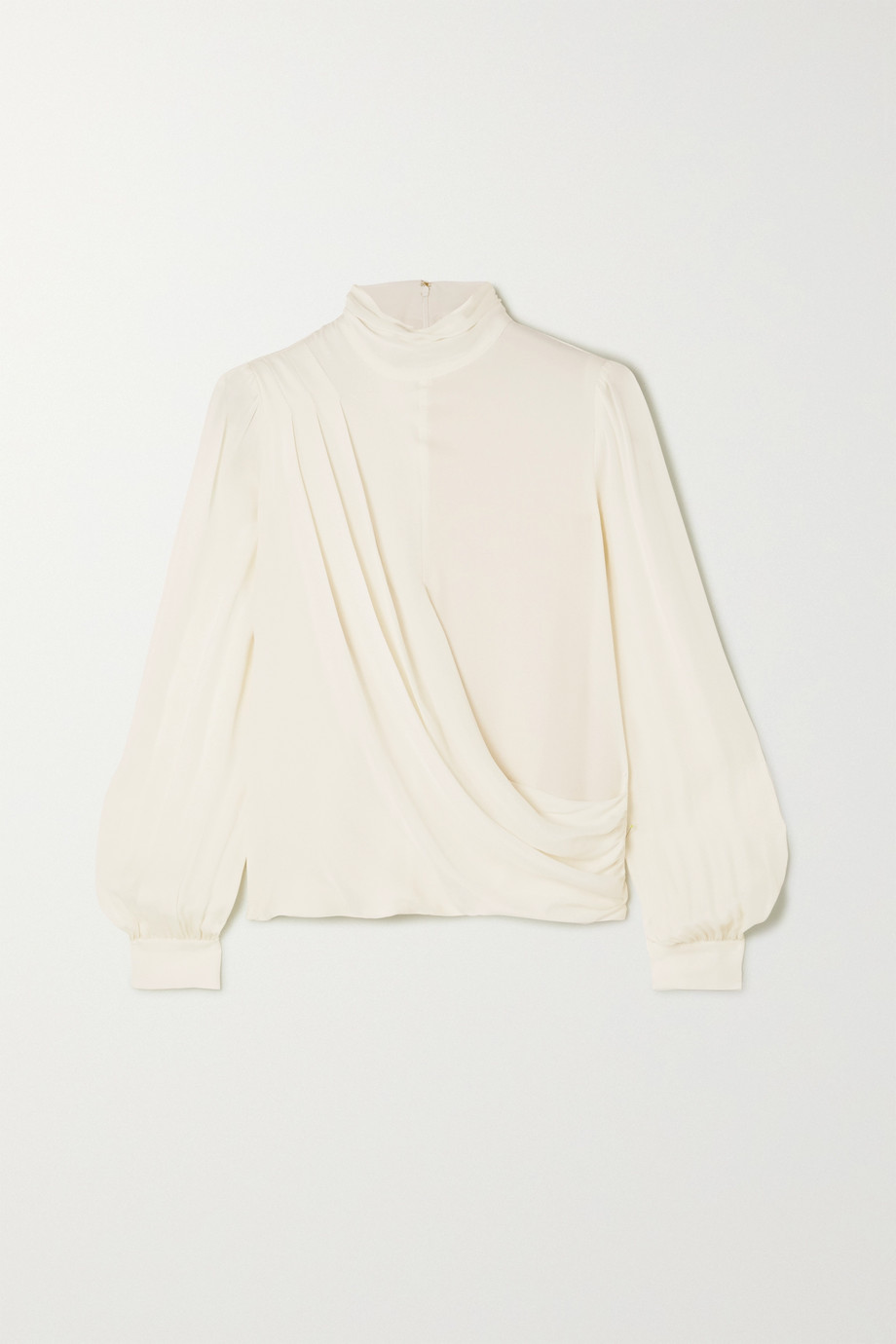 MICHAEL Michael Kors Wrap-effect draped silk crepe de chine blouse