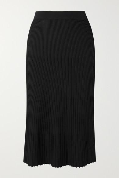 Michael Michael Kors Knits Pleated stretch-knit midi skirt