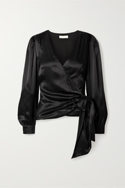 MICHAEL Michael Kors Sateen wrap top