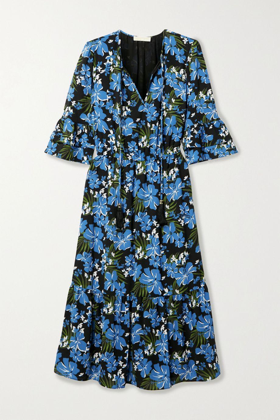 MICHAEL Michael Kors 花卉印花绉纱中长连衣裙